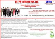 Summer Training at Noida for BE/B-tech