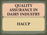HACCP in Dairy Industry