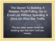 List-Blueprint - For People Who Want to Build An Optin Email List