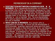 5.MEMBERSHIP IN A COMPANY