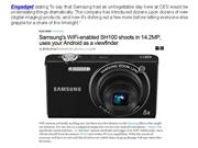 Engadget commended samsung's wifi-enabled sh100
