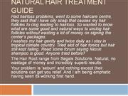 Natural Hair Treatment Guide