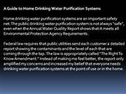 Drinking Water Purification Guide