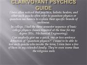 Clairvoyant Psychics Guide