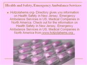 health and safety, emergency ambulance services,health information onl
