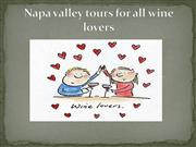 napa valley tours for all wine lovers