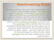 Matchmaking Sites