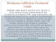 Marijuana Addiction Treatment Guide