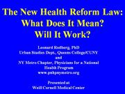 the new health reform law