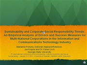 Sustainability and CSR Trends: An Empirical Analysis