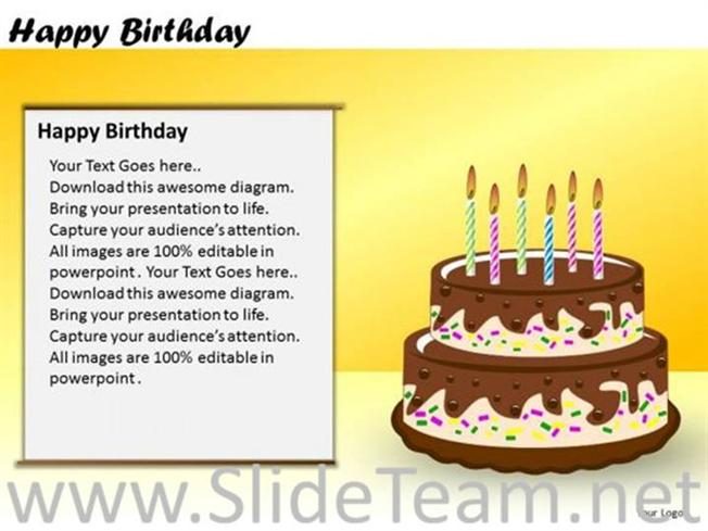 Description Our Professionally Designed Birthday Cake With Candles