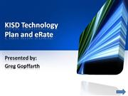 KISD Technology Plan and eRate