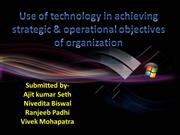 Use of technology in achieving strategic