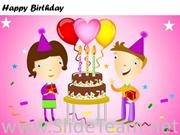 Celebrate Birtday With Cake And Friends
