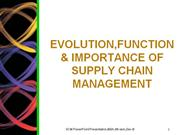 evolution,importance & function of scm
