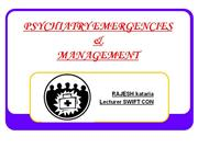 psy emergency nd management