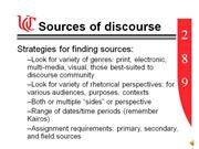 Intermediate Discourse Sources