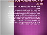 Hair Regrowth Treatments Guide