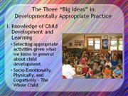 M-3: Developmentally Appropriate Practice & Teaching the Whole Chilld
