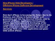 hire offshore iphone 4 apps developers in india
