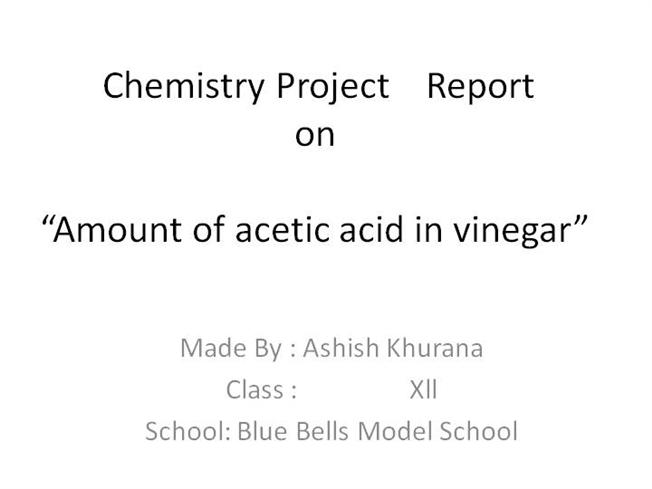 Chemistry Project Report |authorSTREAM