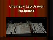 Chemistry Lab Drawer Equipment