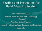 feeding and production for hallal meat
