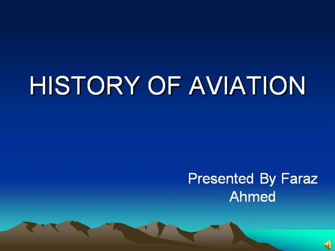 history of aviation authorstream
