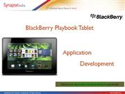 Blackberry Playbook Application Development