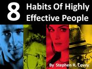 8 habits of highly effective people