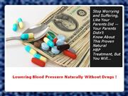 Successfully Treat High Blood Pressure - Natural High Blood Pressure R