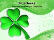 PATRICK DAY LUCKY CLOVER LEAF CELEBRATION POWERPOINT TEMPLATE