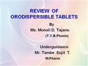 orodispersible tablets