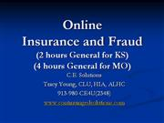 Online CE Insurance and Fraud