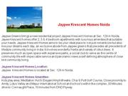 Jaypee Krescent Homes - Jaypee Krescent Homes Sector 129 - Jaypee Kres