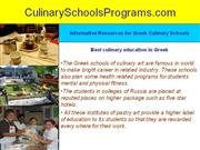 how to choose best greek culinary art schools