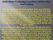 Emergency Water Purification