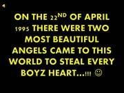 on the 22nd of april 1995 there were