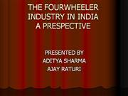 final THE FOUR WHEELER INDUSTRY IN INDIA