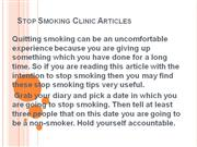 Stop Smoking Clinic Articles