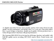HMX-H205 Review