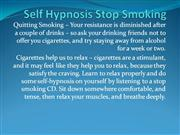 Self Hypnosis Stop Smoking