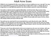 Adult Acne Scars Cured