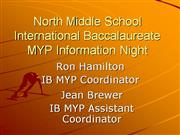 IB MYP Welcome Night 2010