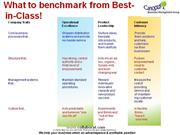 What to benchmark from Best-in-Class
