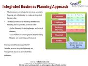 Integrated business planning approach