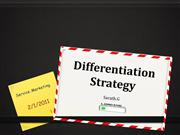 Differentiation Strategy BY SARATH G
