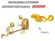 MEASURING CUSTOMER SATISFACTION SURVEY