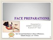 face preperations