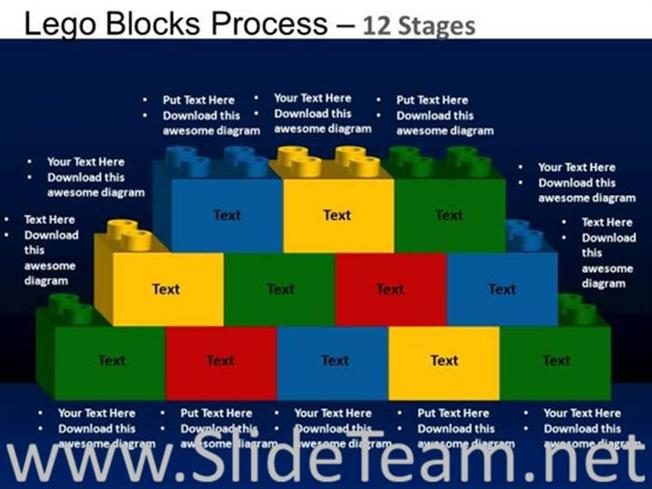 Lego building blocks ppt slide powerpoint diagram related powerpoint templates ccuart Image collections